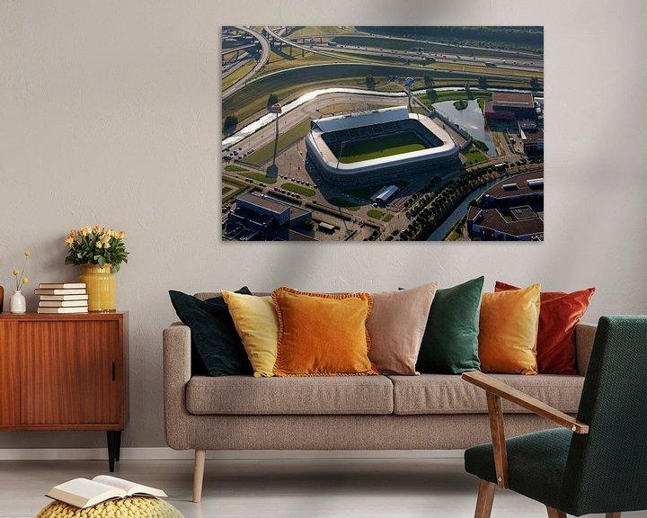 Sfeerimpressie: Luchtfoto ADO Stadion te Den Haag van Anton de Zeeuw