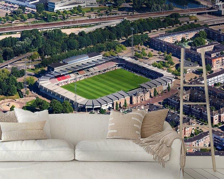 Sfeerimpressie behang: Luchtfoto Sparta stadion te Rotterdam van Anton de Zeeuw