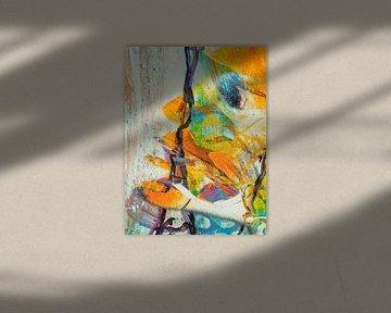 The yellow abstract face von Gabi Hampe