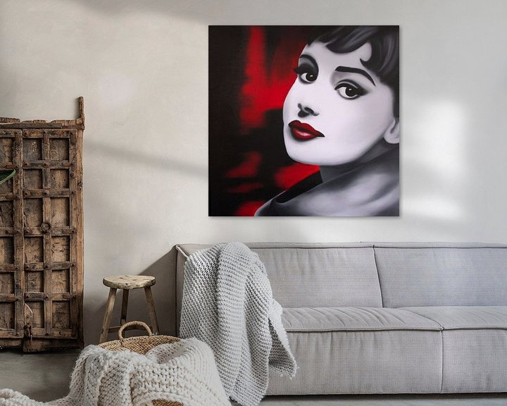Beispiel: Audrey Hepburn popart von anja verbruggen