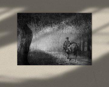 Man met paard van Leonie Kuiper