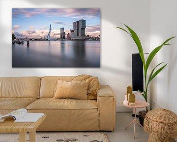 Rotterdam skyline met Erasmusbrug