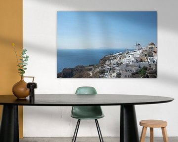 Witte huisjes op Oia Santorini van Barbara Brolsma