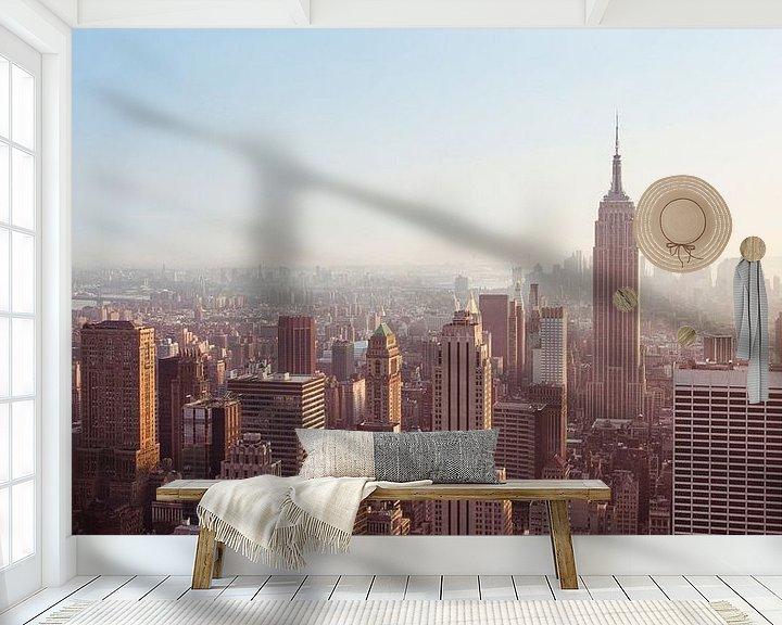 Sfeerimpressie behang: New York Panorama VI van Jesse Kraal