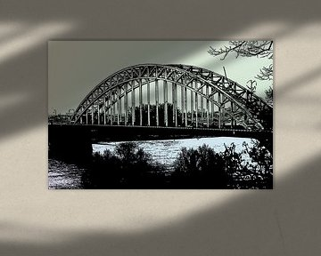 de waalbrug nijmegen pastel von Groothuizen Foto Art