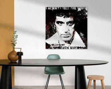 Scarface Al Pacino Pop Art Schilderij van Kunst Company