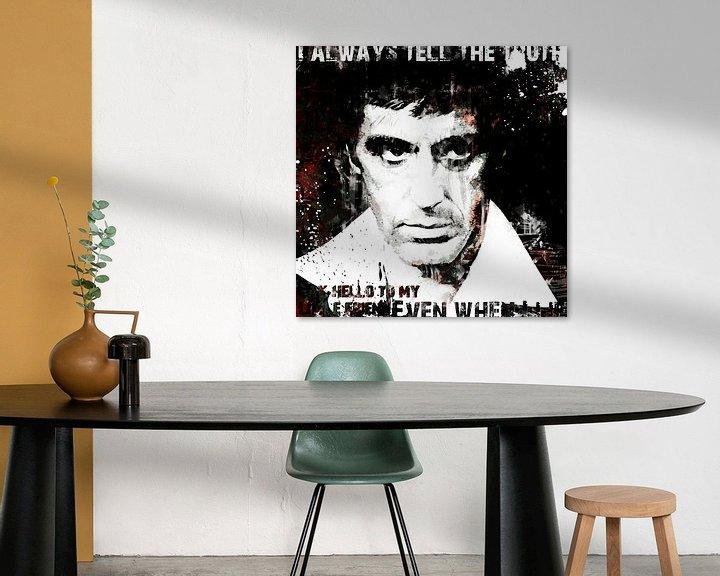 Beispiel: Scarface Al Pacino Pop-Art-Malerei von Kunst Company