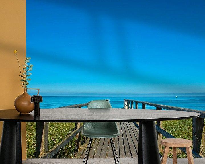 Sfeerimpressie behang: Sylt: De weg naar het strand van Norbert Sülzner