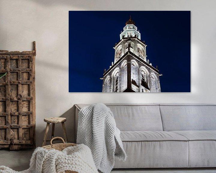 Sfeerimpressie: Martinitoren bij Avond (2) van Frenk Volt