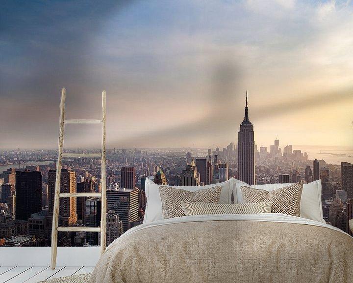 Sfeerimpressie behang: New York Panorama VIII van Jesse Kraal