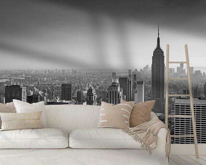 Sfeerimpressie behang: New York Panorama IX van Jesse Kraal