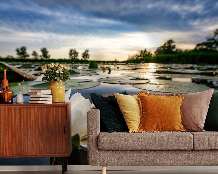 Impression: Nénuphar au coucher du soleil sur Sjoerd van der Wal
