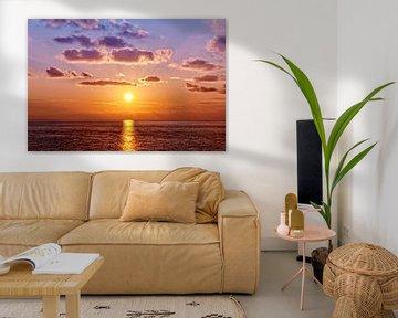 Sonnenuntergang am Ligurischen Meer