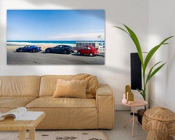 Italiaanse auto's Ferrari en Fiat 500 van Ansho Bijlmakers