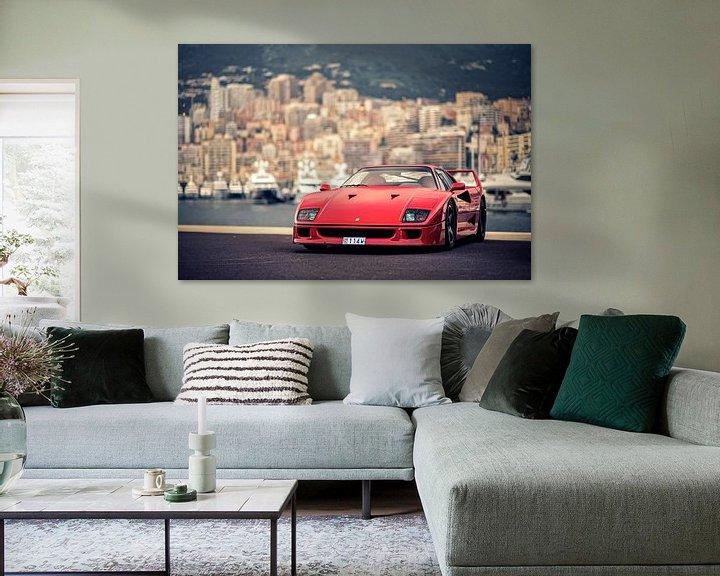 Sfeerimpressie: Ferrari F40 in Monaco van Ansho Bijlmakers