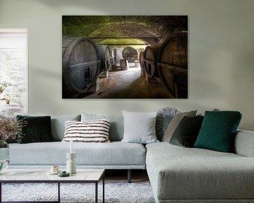 Grote Wijnvaten in Kelder. van Roman Robroek