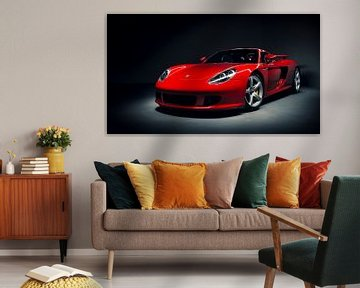 Rotes Porsche Carrera GT von Ansho Bijlmakers