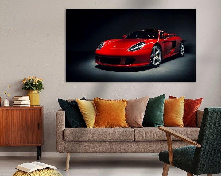 Sfeerimpressie: Rode Porsche Carrera GT van Ansho Bijlmakers