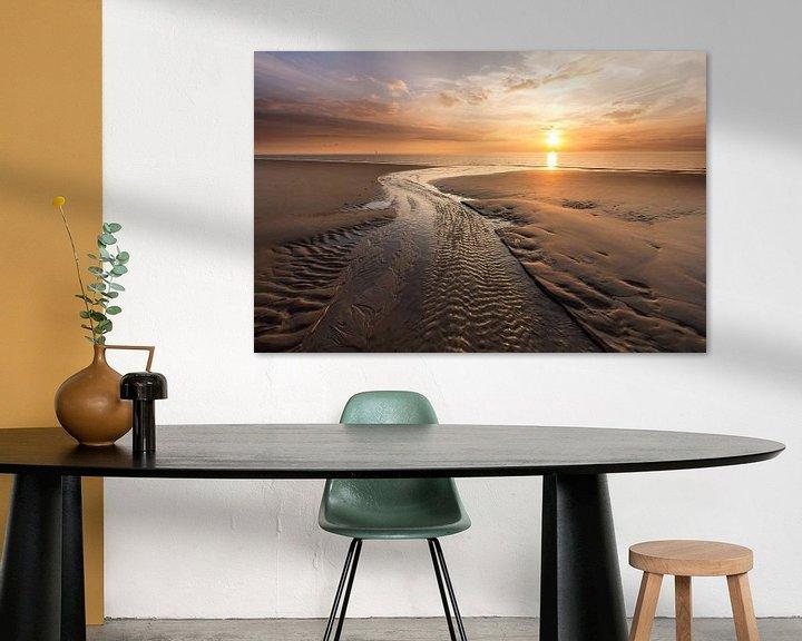 Sfeerimpressie: Zonsondergang in Haamstede (1) van Koos de Wit