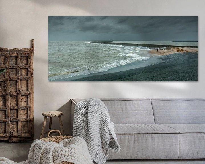 Sfeerimpressie: Storm bij de Eemshaven van Koos de Wit