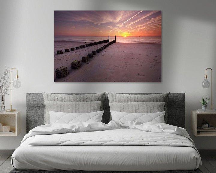 Sfeerimpressie: Zonsondergang in Haamstede van Koos de Wit