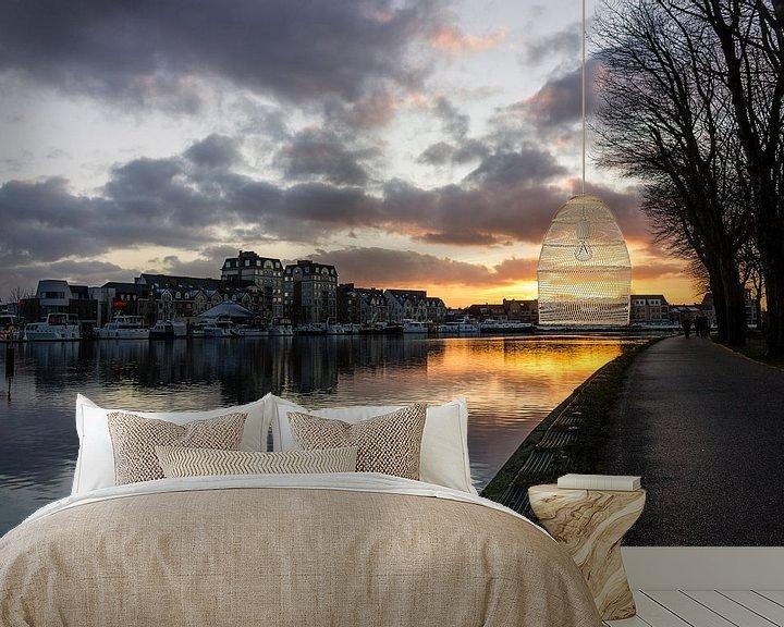 Sfeerimpressie behang: Nieuwe Kaai, Turnhout. van Photo Dante