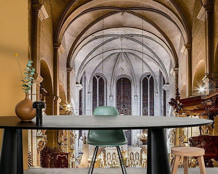 Beispiel fototapete: Begijnhofkerk Turnhout, interieur. von Photo Dante