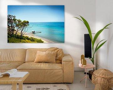 Erhöhte Ansicht der Dock-Haus in Mornington Peninsula Beach, Melbourne, Australien von BeeldigBeeld Food & Lifestyle