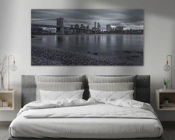 New York Skyline - Brooklyn Bridge (10) van Tux Photography