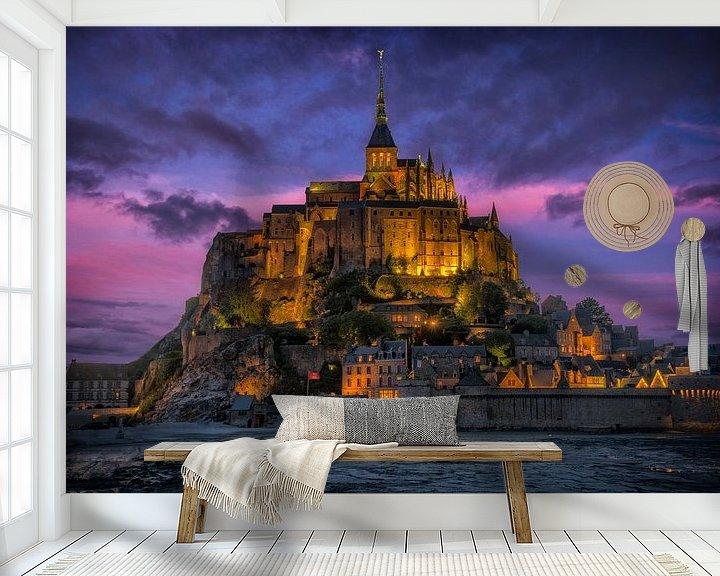 Sfeerimpressie behang: Le Mont Saint-Michel van Ardi Mulder