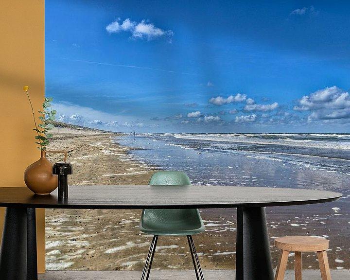Sfeerimpressie behang: Strand Zuid Zandvoort van Don Fonzarelli
