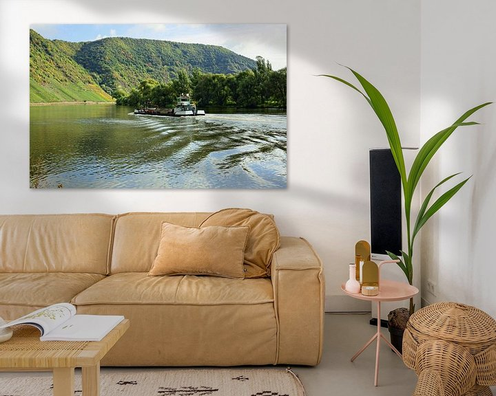 Sfeerimpressie: The Moselle in front of the Mont Calmont van Gisela Scheffbuch