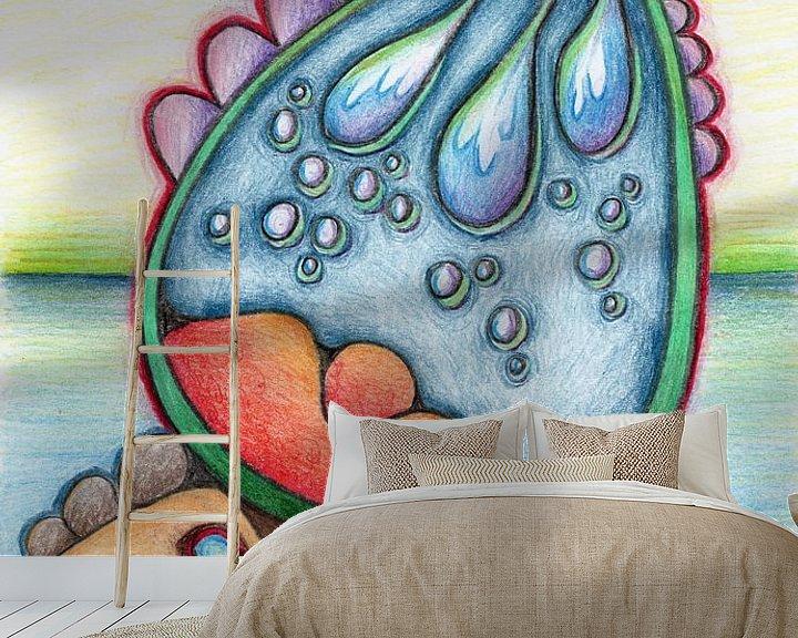 Beispiel fototapete: Kleurrijke fantasie tekening von Gabi Gaasenbeek