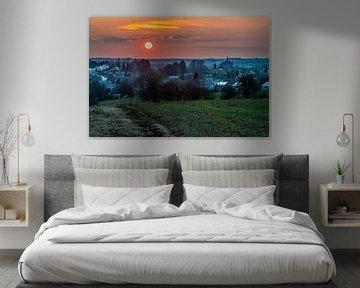 Zonsondergang Belgische Ardennen van Marco Schep