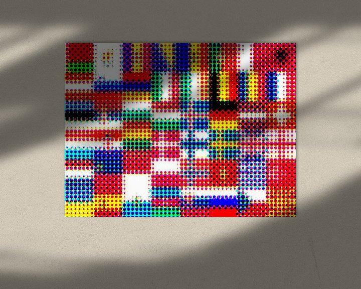 Sfeerimpressie: Vlaggen van Europa 4: rasterpatroon van Frans Blok