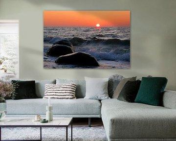 Sonnenuntergang an der Ostseeküste von Rico Ködder