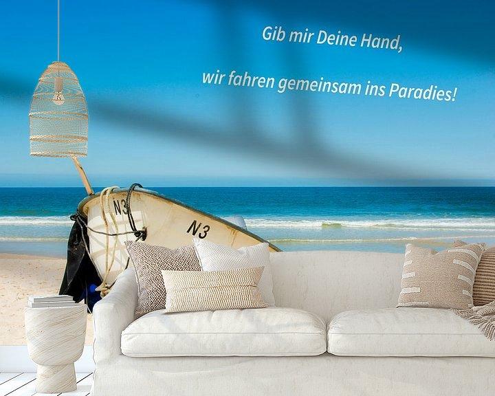 Sfeerimpressie behang: Geef me je hand, gaan we samen naar het paradijs! van Norbert Sülzner