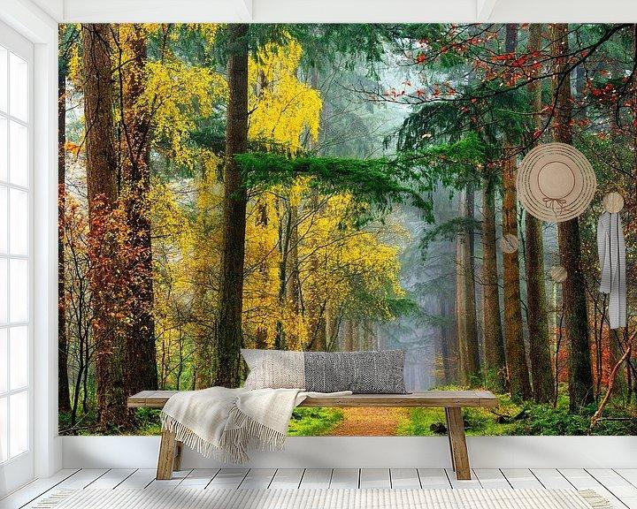 Sfeerimpressie behang: Kleuren van het Bos van Lars van de Goor