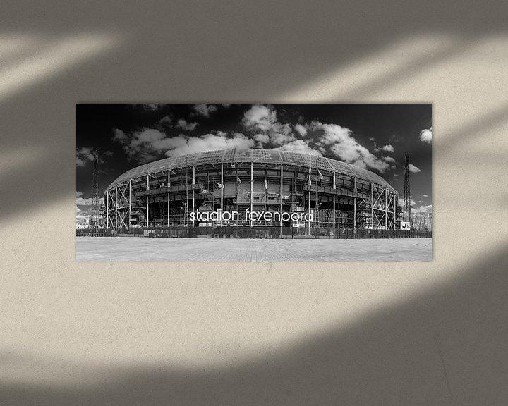 Sfeerimpressie: Stadion Feyenoord ofwel De Kuip, panorama van Pieter van Roijen