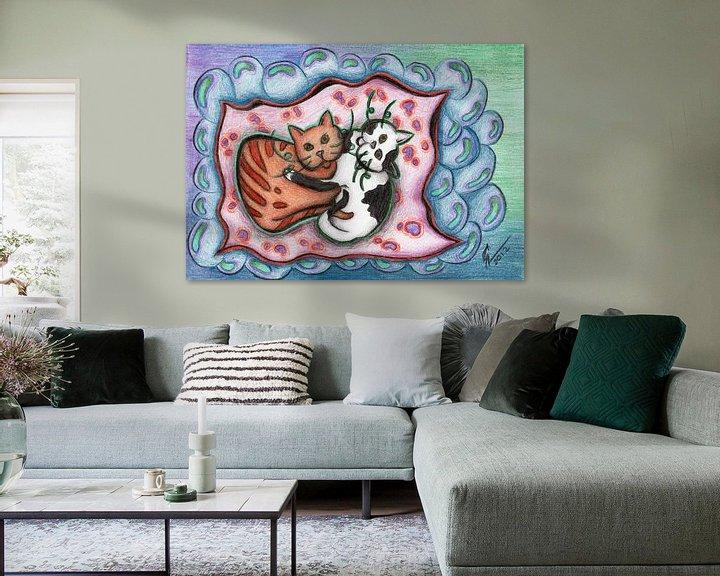 Beispiel: Kleurrijke kattentekening von Gabi Gaasenbeek