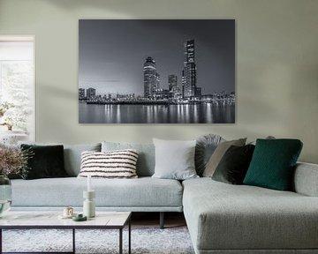 Rotterdam Skyline - Wilhelminapier - 2 van Tux Photography