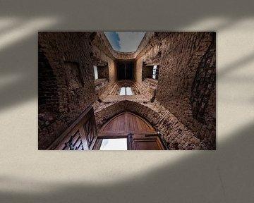 Church roofless abstract van Brian Morgan