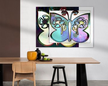 Butterfly Collage Pastel Dream von Nicky`s Prints