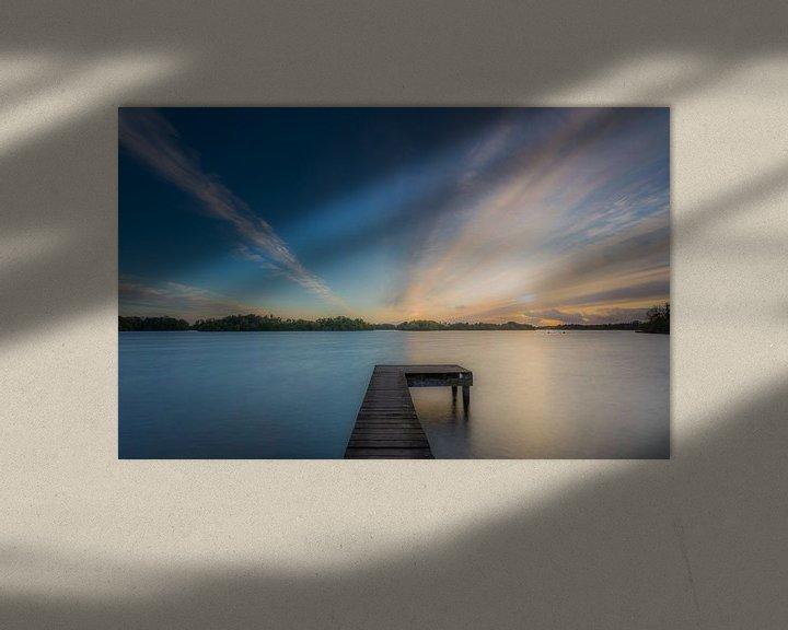 Sfeerimpressie: Zonsondergang op een steiger van Koos de Wit