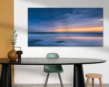 Zonsondergang op  het strand van Koos de Wit