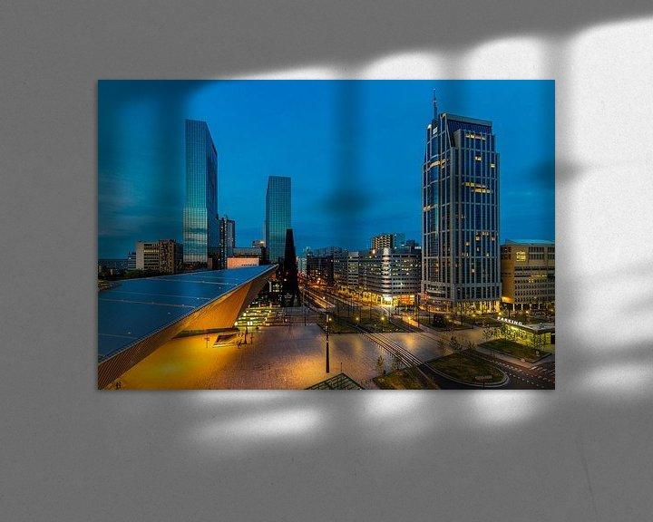 Sfeerimpressie: Stationsplein Rotterdam Centraal Station (versie 3) van MS Fotografie | Marc van der Stelt