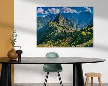 Prachtig panorama van de verborgen stad, Machu Picchu
