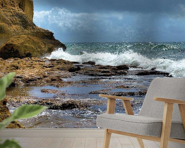 Sfeerimpressie behang: Portugal Strand van Brian Raggatt