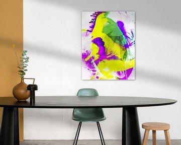 Grunge Abstrakt Aquarell von Brian Raggatt