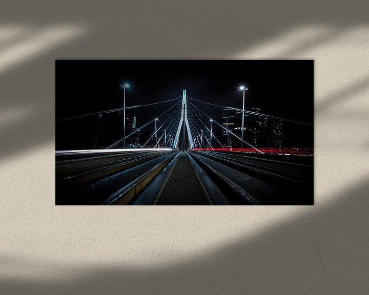 Sfeerimpressie: Erasmusbrug, Rotterdam van Dennis Wierenga